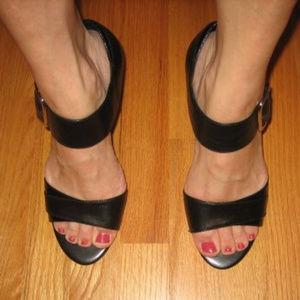 Franco Sarto Preston Black Max Calf Sandals